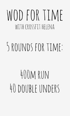 WOD for time at crossfit helena for 50 States In A Year