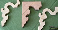 DIY corbels inspired from these vintage finds, pattern and tutorial on Remodelaholic.com Woodworking Patterns, Woodworking Projects, Diy Wood Projects, Wood Crafts, Handmade Furniture, Diy Furniture, Craft Font, B 13, Architectural Salvage
