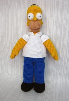 Homer Simpson Crochet Figure | Craftsy