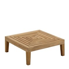 Solo Square Side Table w/Teak Top