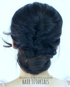 Hair tutorial video   Easy, 5 min elegant, party updos hairstyles for wedding, prom, homecoming, everyday, school