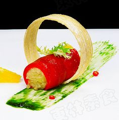 Contemporary Food Presentation   Modern Chinese Vegetarian Dishes with Creative Presentation