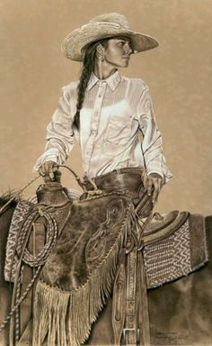 This vintage photo is of our Great Aunt Luz. We have it framed over the fireplace in the great room. She was quite a cowgirl in her day...............