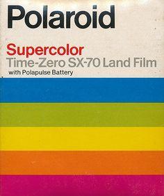 vintage polaroid package for Land Film.