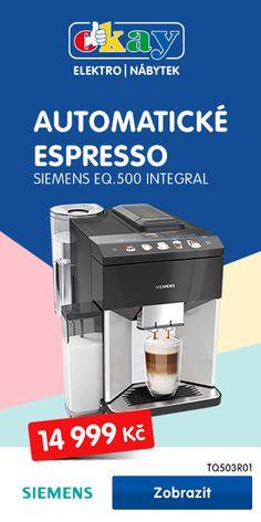 www.okay.cz Drip Coffee Maker, Espresso Machine, Kitchen Appliances, Espresso Coffee Machine, Diy Kitchen Appliances, Home Appliances, Coffee Making Machine, Kitchen Gadgets, Espresso Maker