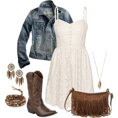 Western outfits, western dress with boots, cowgirl boots, senior picture ou Western Dress With Boots, Cowboy Boot Outfits, Dresses With Cowboy Boots, Western Outfits, Cowgirl Boots, Western Dresses, Cowgirl Mode, Estilo Cowgirl, Gypsy Cowgirl