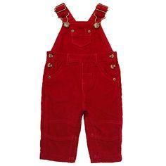 Buy John Lewis Baby Corduroy Dungarees, Red Online at johnlewis.com
