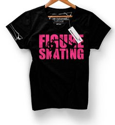 Figure Skating Cutout T-Shirt Figure Skating Outfits, Skate T Shirts, Sport Quotes, Ice Skating, Shirt Ideas, Shirt Designs, Cricut, Mom, Sayings