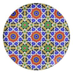 Shop Islamic geometric pattern plate created by moresque. Motifs Islamiques, Islamic Motifs, Islamic Patterns, Islamic Art, Moorish, Star Patterns, Cool Places To Visit, Geometry, Egypt