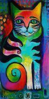 colorido del gato por karincharlotte