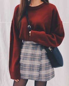 Damen Rock Outfit - Chi yeon - - Damen Rock Outfit - Chi yeon Source by pinthroughcom skirt outfits Winter Fashion Outfits, Look Fashion, Skirt Fashion, Korean Fashion, Womens Fashion, Ladies Fashion, Fasion, Winter Fashion For Teen Girls, Trendy Fashion