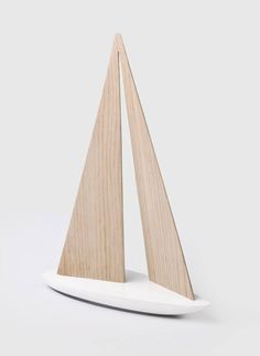 Super cool wooden sailboat by WOO toys