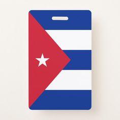 Cuba Flag Badge Custom Office Retirement #office #retirement
