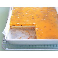 Passionfruit custard slice recipe - By Australian Women's Weekly, For this slice recipe you can buy passionfruit pulp from the supermarket, or, if you have an abundance of fresh passionfruit, this is a great way to put them to good use.