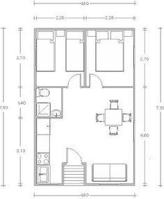 Plano de casa prefabricada de 3 dormitorios con medidas en - Casas prefabricadas en valladolid ...