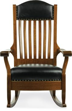 Built In Oak And Leather, The Wide Aunties Rocker Adds Rustic Charm And  Comfort To Any Room For Years To Come. Shop Up To Off Amish Furniture Now.