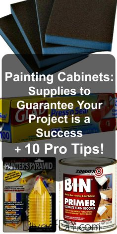 Learn my tips for painting cabinets from 15 years of experience! Paint cabinets like a pro with this list of supplies for your DIY cabinet painting project. Painting Kitchen Cabinets, Diy Cabinets, Painting Edges, Painting Tips, Painting Laminate, Diy Wall Decor, Diy Home Decor, Home Repairs, Kitchen Redo