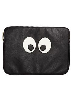 Image 1 ofASOS Laptop Case With Googley Eyes