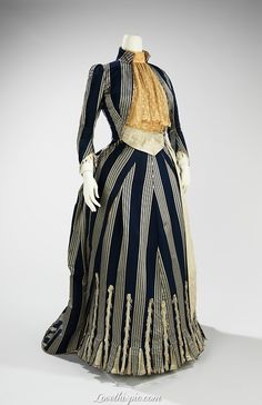 Walking Dress ca. 1885 fashion dress vintage victorian historical ladies walking