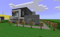 1000 images about casas modernas en minecraft on for Casa moderna madera minecraft