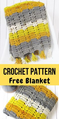 Free Crochet Afghan Pattern, Fireplace Afghan, This free crochet afghan pattern designed using the Caron Cakes yarn is a beginner level pattern. The blanket pattern is easy and quick making it a be. Crochet Afghans, Motifs Afghans, Easy Crochet Blanket, Afghan Crochet Patterns, Knit Or Crochet, Crochet Crafts, Double Crochet, Crochet Stitches, Crochet Projects