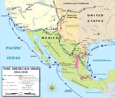 Map Of The MexicanAmerican War The Mexican American - 1848 map of us