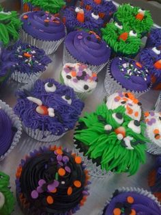 Monster Cakes - Halloween Cupcakes