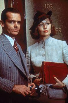 Jack Nicholson and Faye Dunaway in 'Chinatown', 1974