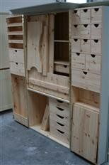 Cheap Craft Room Storage and Organization Furniture Ideas 5 Craft Cupboard, Craft Cabinet, Sewing Cabinet, Craft Room Storage, Craft Organization, Bedroom Furniture, Diy Furniture, Sewing Room Furniture, Office Furniture