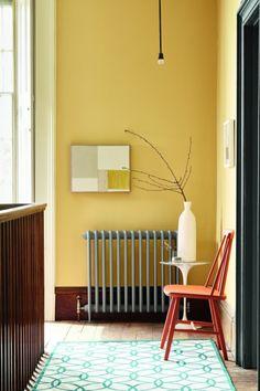 Peinture Little Greene Hallway Colours, Little Greene, Little Greene Paint Company, Yellow Interior, Little Greene Paint, House Interior, Yellow Painted Walls, Neutral Interiors, Warm Yellow Paint Colors