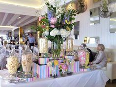 Natalie Bassingthwaighte Wedding - The Candy Buffet Company Lolly Buffet, Dessert Buffet, Candy Buffet, Dessert Bars, Baby Shower Candy Table, Sweet Buffet, Pastel Candy, Party Themes, Party Ideas