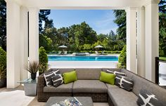 Contemporary Outdoor Patio Living by the Pool