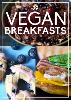 Click on this pin for more information on how to make these 29 vegan breakfast recipes #breakfast #recipe #bruch #weekend #recipes