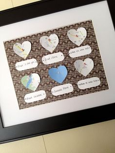 super cute anniversary gift idea; different vacations maybe instead
