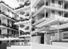 Penda Designs Sky Villas with Vertical Gardens for Hyderabad,Courtesy of Penda