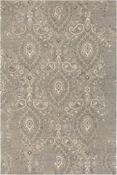 ba6e295f5ff4 Surya AIL1010-810 Asheville 8  x 10  Rectangle Wool Hand Tufted Damask Area