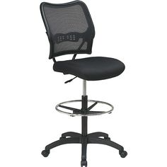 Office Star Products Space Drafting Chair (Delux Drafting Chair), Grey  Chrome