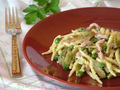 Trofie+cremose+al+gorgonzola+carciofi+e+piselli
