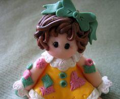 Polymer Clay Patchwork Doll--by trinasclaycreations