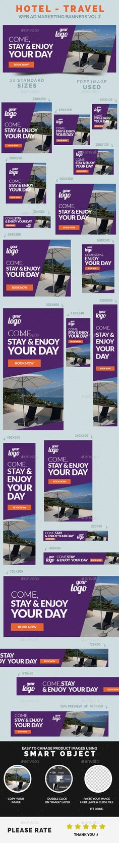 Hotel / Travel Web Ad Marketing Banners Template PSD | Buy and Download: http://graphicriver.net/item/hotel-travel-web-ad-marketing-banners-vol-2/9092555?WT.ac=category_thumb&WT.z_author=webduck&ref=ksioks