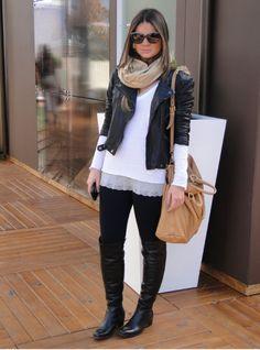 Para inspirar| 15 looks com jaqueta de couro