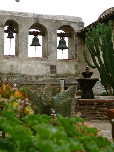 The bells at San Juan Capistrano Mission, San Juan Capistrano, California.