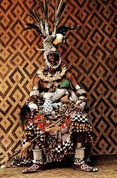 Africa | Portrait of a former regent from the Kuba people of DR Congo | ©Angelo Turconi