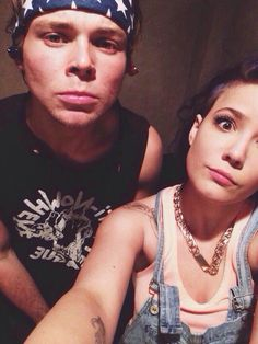 Halsey with Ashton Irwin of 5sos