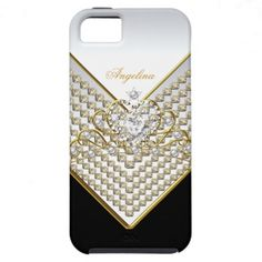 iPhone 5 Tiara Black White Gold Elegant Classy iPhone 5 Cases