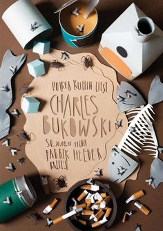 Lesung Charles Bukowski, Design: Andrea Weber
