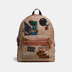 Coach X Keith Haring Academy Backpack In Signature Patchwork  #summer #summerstyle #coach #coachxkeithharingacademybackpack #backpack #patchwork
