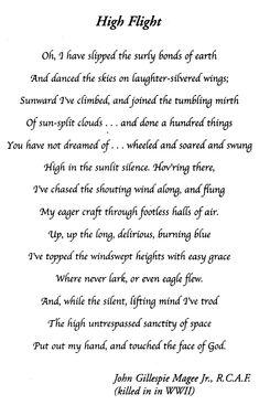 """""""High Flight"""""""