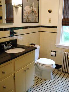Yellow And Black Bathroom
