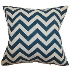 $28.95.   Add a perfectly patterned pop of style to your bed or favorite reading nook with this cotton pillow, featuring a chevron motif and feather-down fill. Made in...